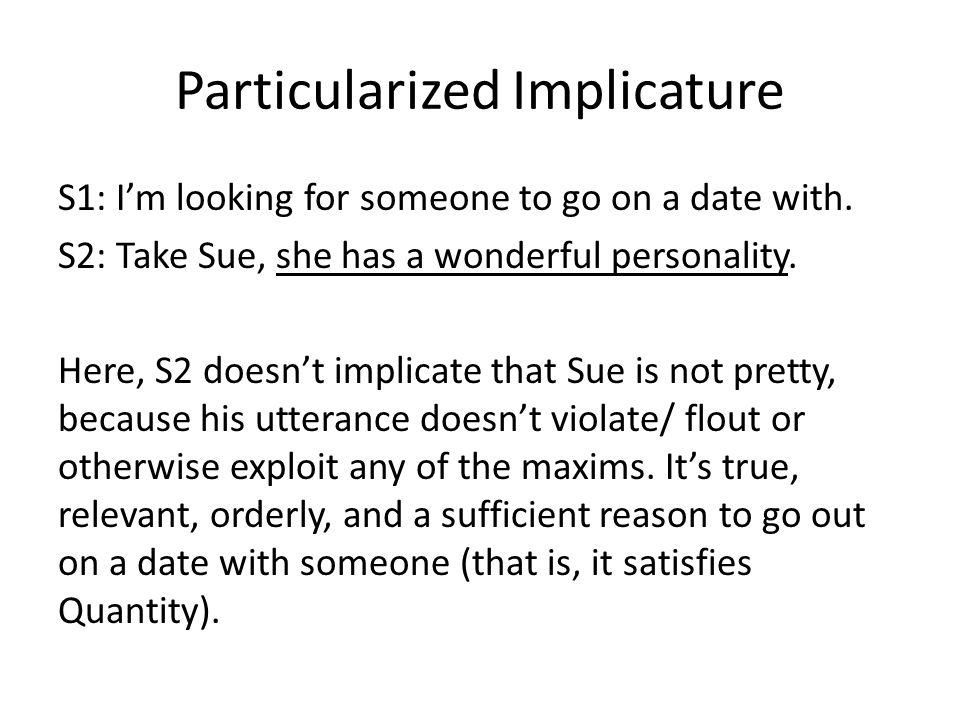 Particularized Implicature