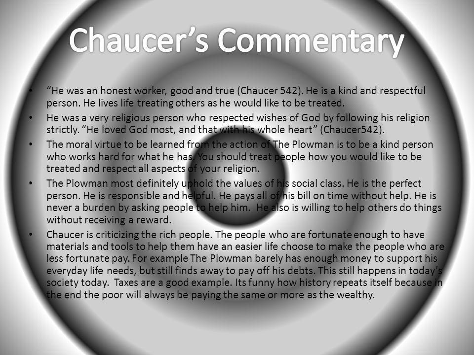 Chaucer's Commentary