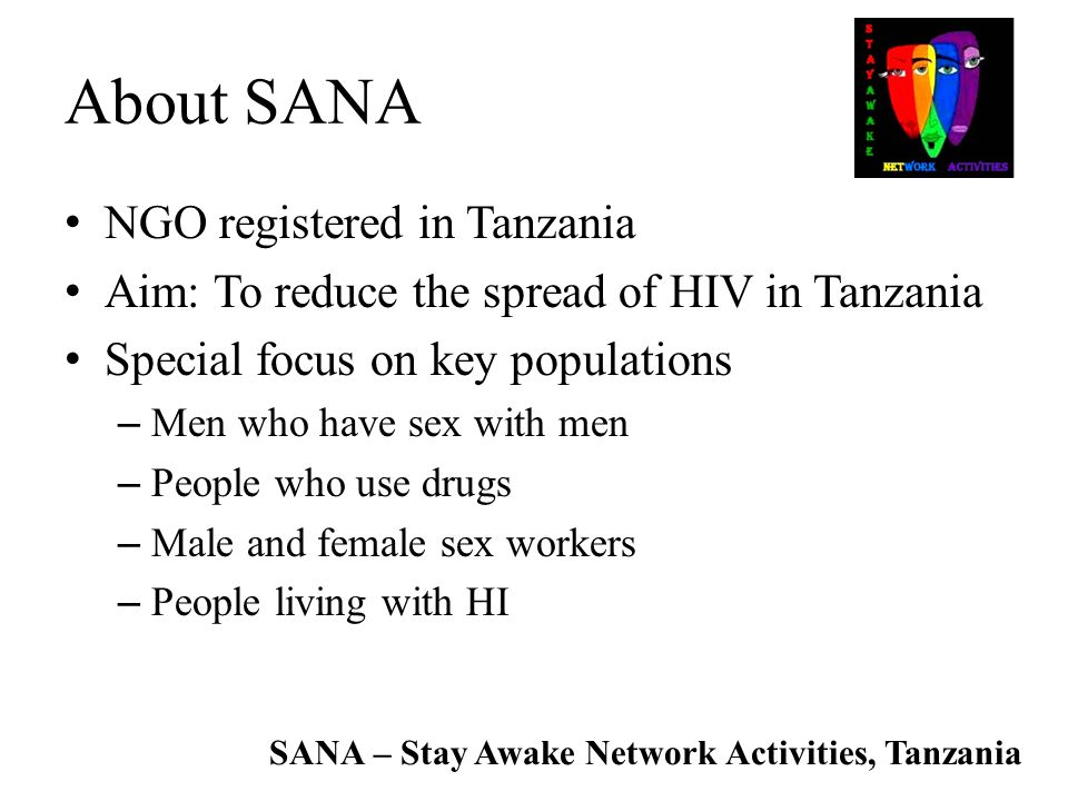 About SANA NGO registered in Tanzania