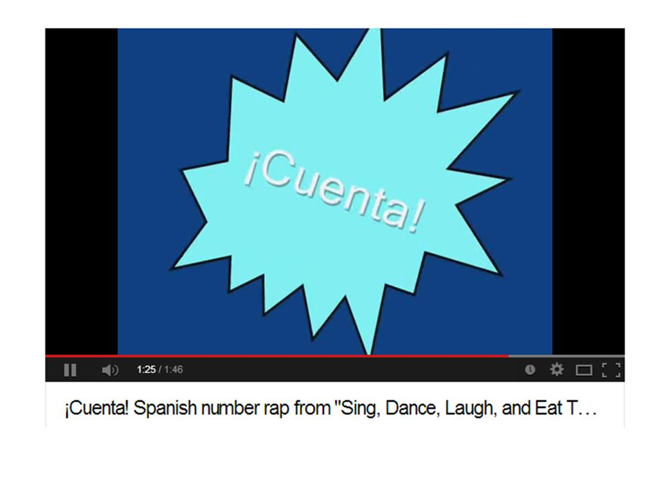 Image links to Spanish Youtube song – Numbers 1 – 30 http://www