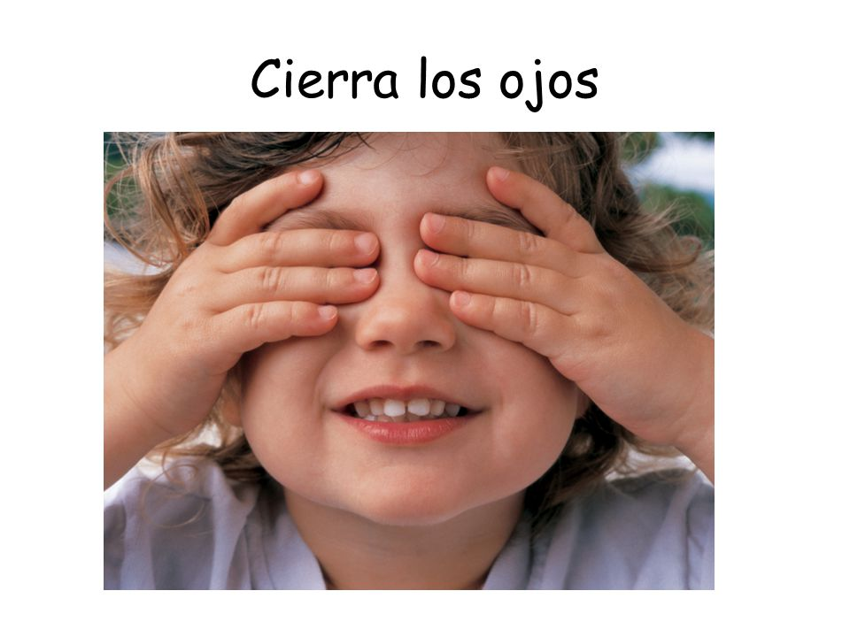 Cierra los ojos Work with a partner, put 31 objects on your table.