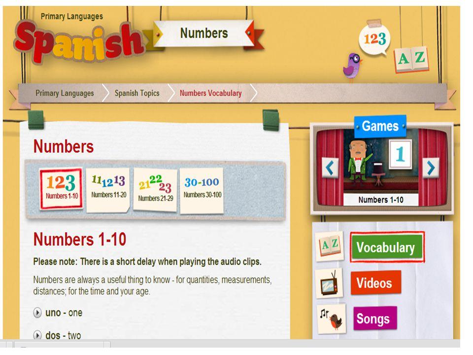 http://www.bbc.co.uk/schools/primarylanguages/spanish/numbers/