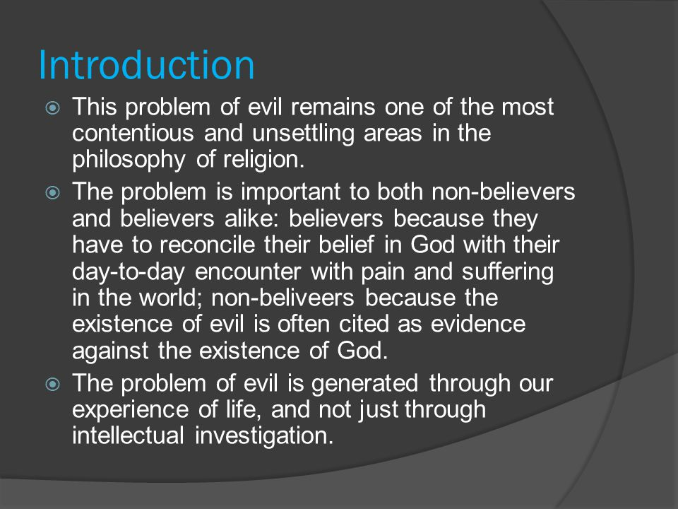 Problem of evil and best world