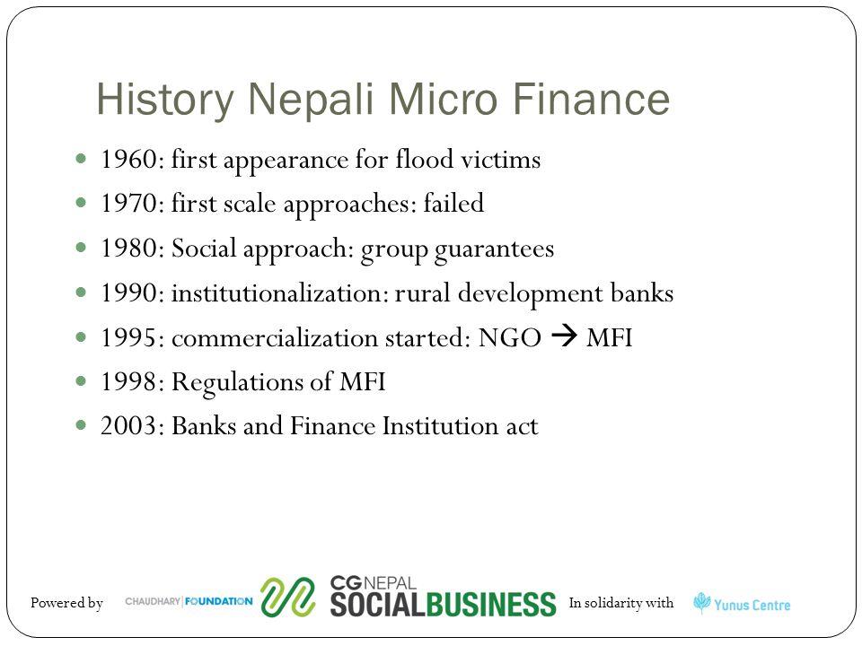 History Nepali Micro Finance
