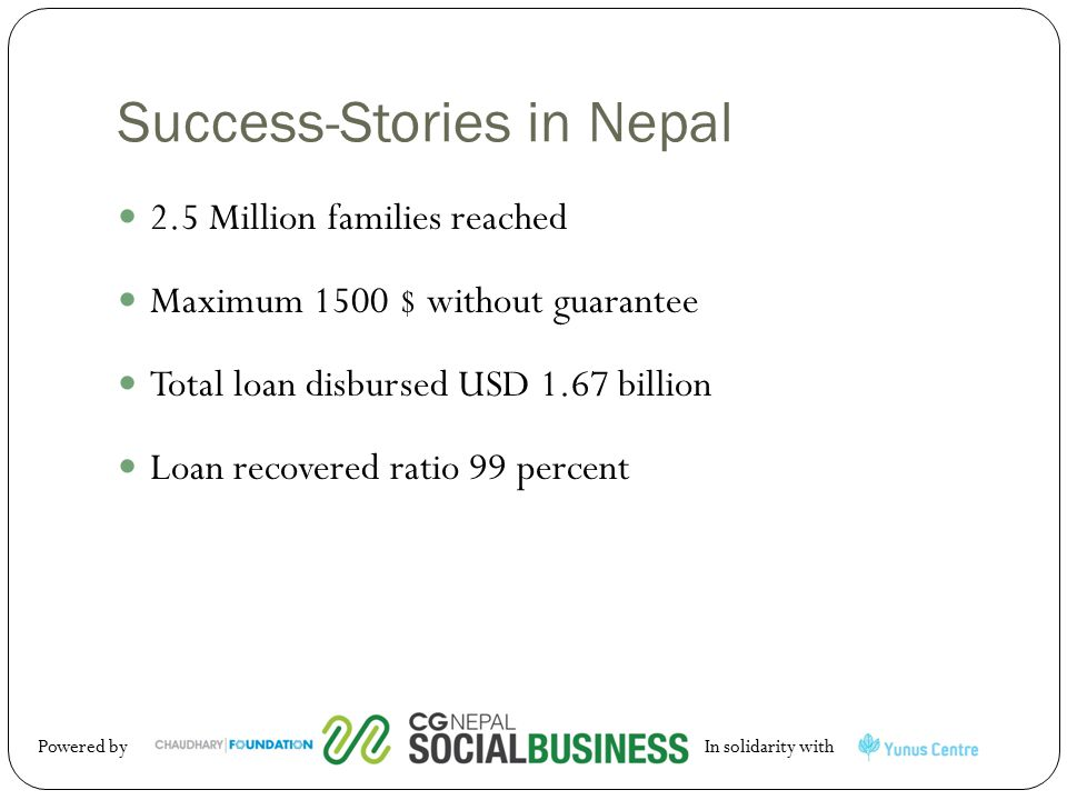 Success-Stories in Nepal