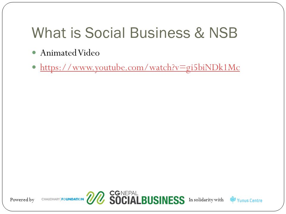 What is Social Business & NSB