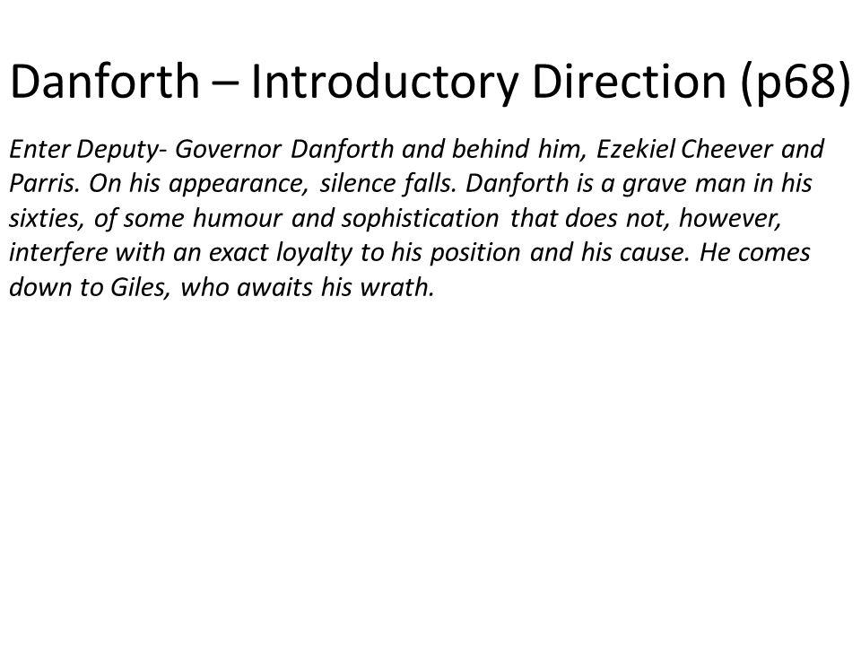 Danforth – Introductory Direction (p68)