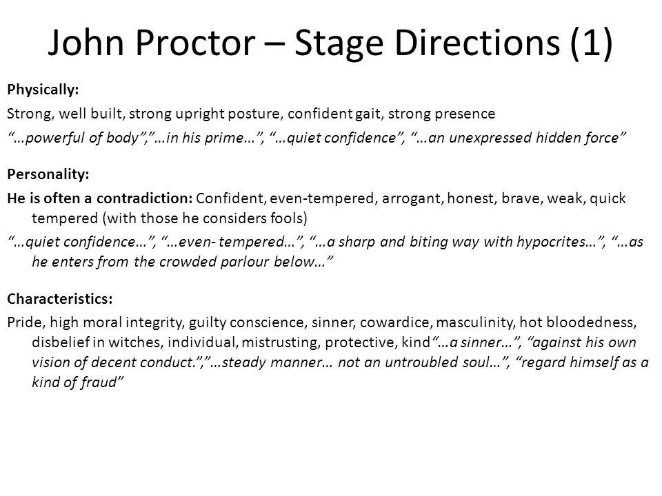 an overview of john proctor as the main charter in the crucible guilty by suspicion Read on for an overview of what a theme is, a list of important themes in the  crucible  irony abounds throughout the crucible as characters who believe  they are  in act 2, john proctor's guilt over his affair with abigail is  what are  some of the factors that feed the panic and suspicion in salem, and.
