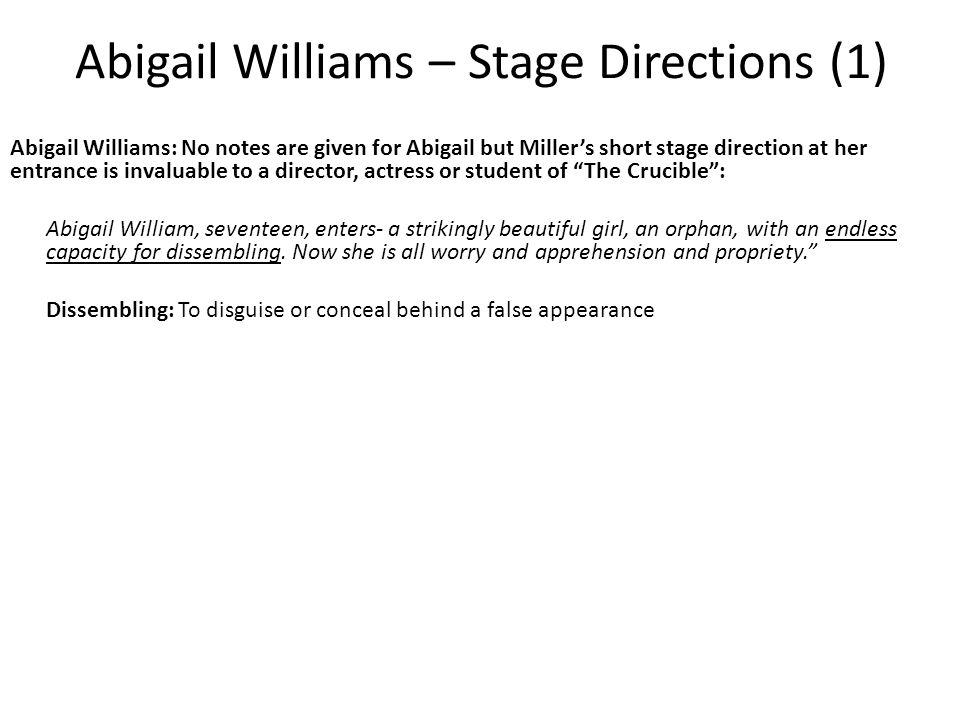 Abigail Williams – Stage Directions (1)