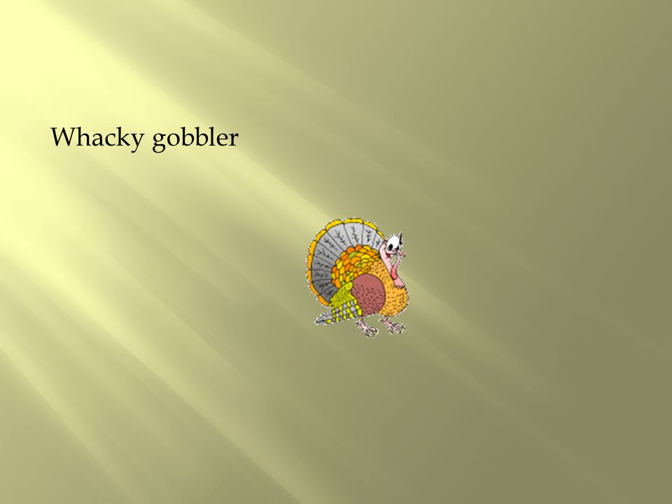 Whacky gobbler