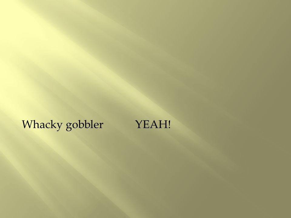 Whacky gobbler YEAH!