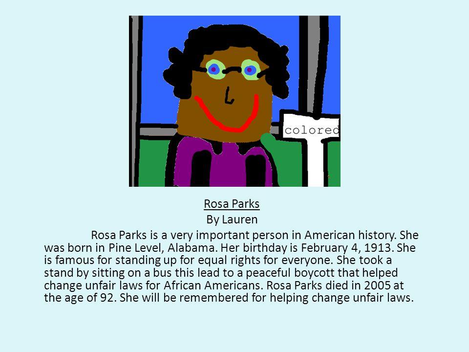 Rosa Parks By Lauren.