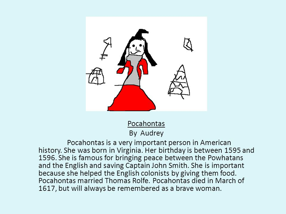 Pocahontas By Audrey.