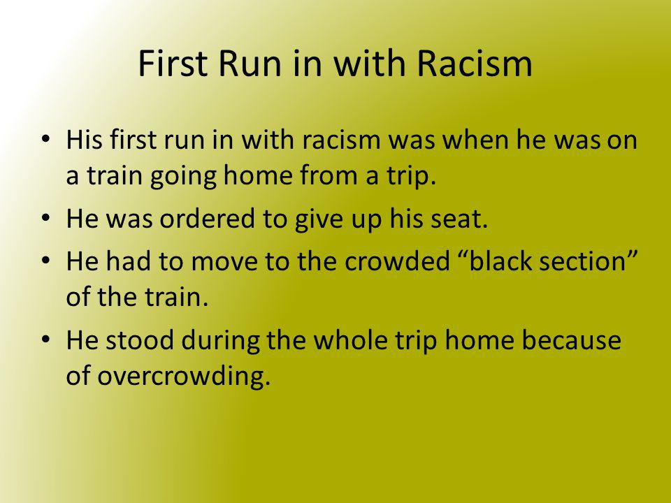 First Run in with Racism