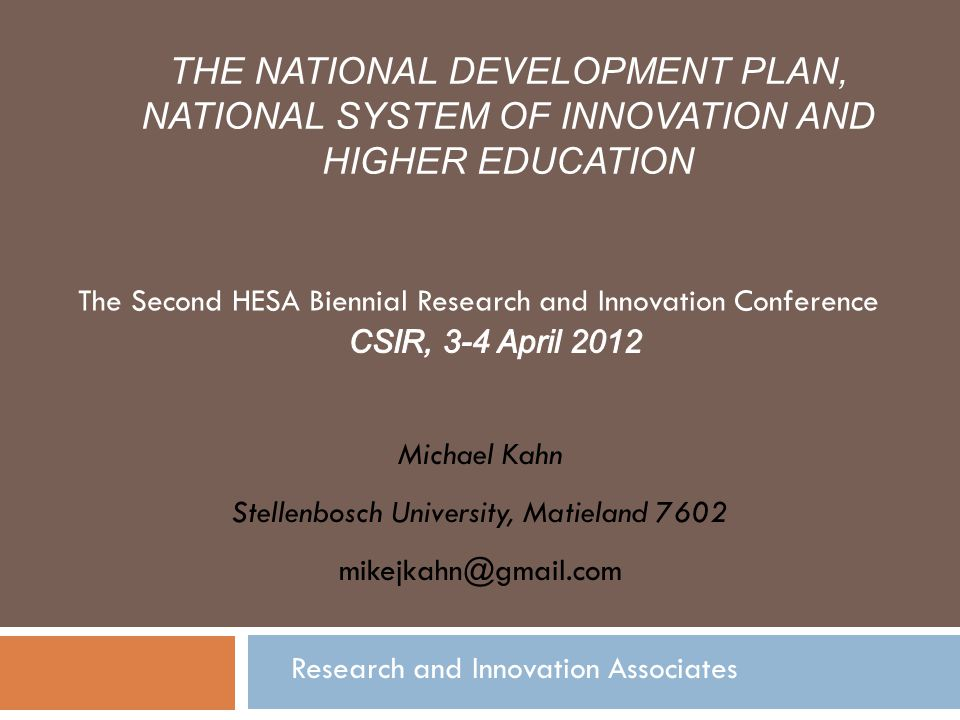 The Second HESA Biennial Research and Innovation Conference