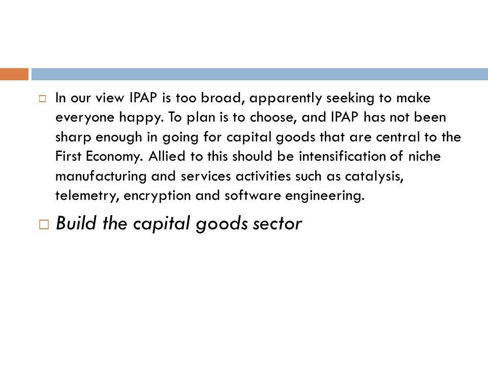 Build the capital goods sector