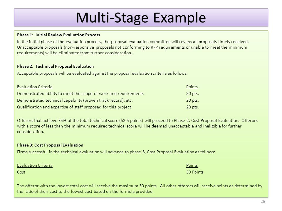 Multi-Stage Example