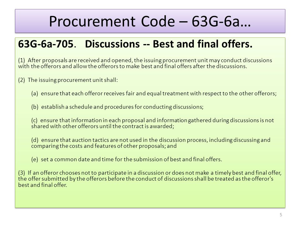 Procurement Code – 63G-6a…