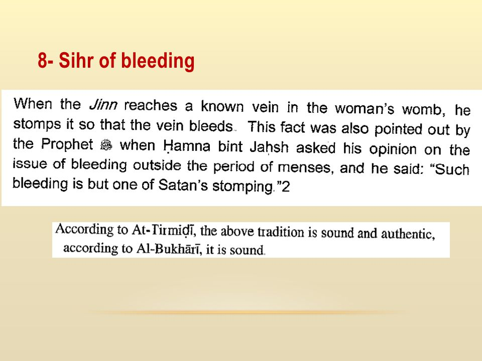 8- Sihr of bleeding