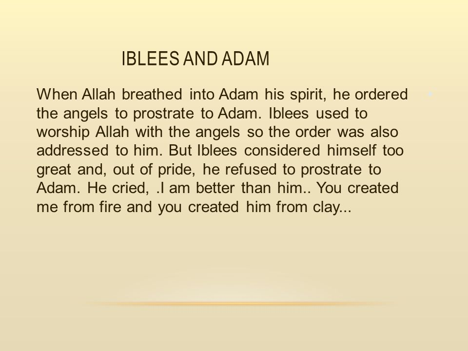 Iblees and Adam