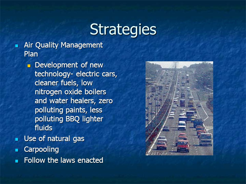 Strategies Air Quality Management Plan