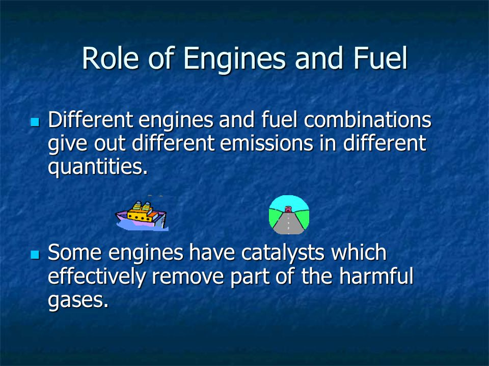 Role of Engines and Fuel