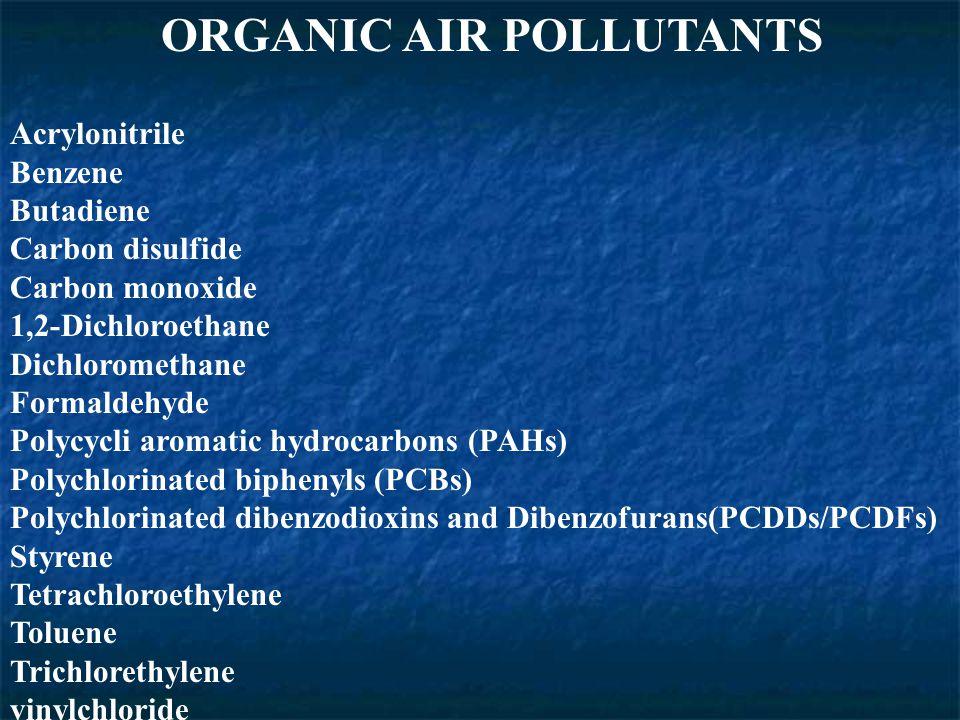 ORGANIC AIR POLLUTANTS