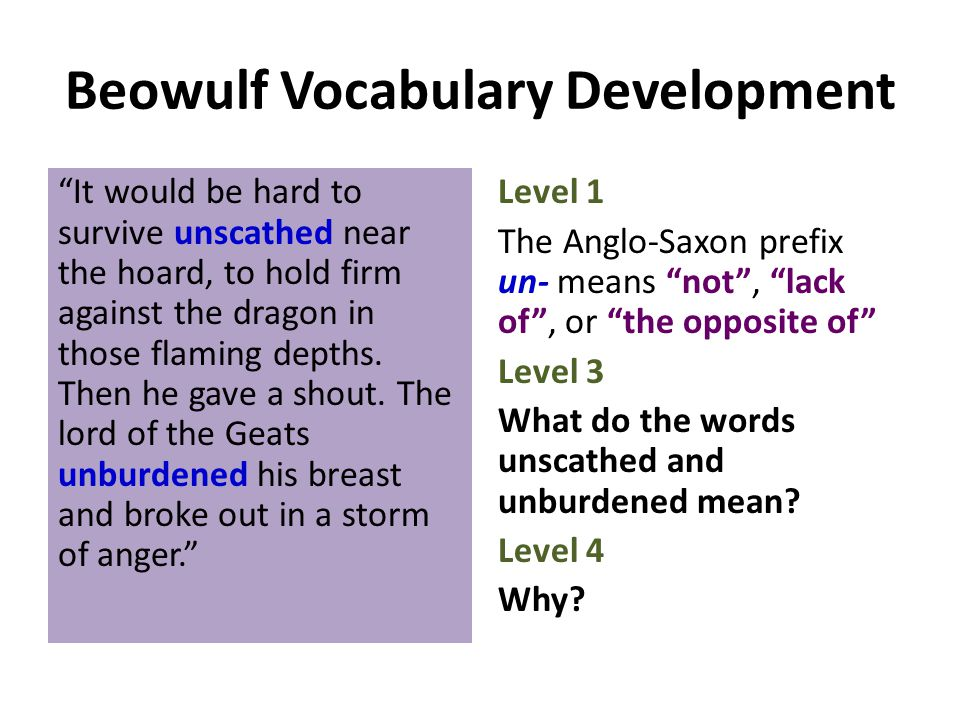 Beowulf Vocabulary Development