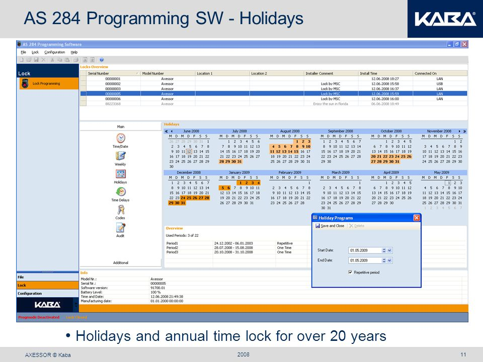 AS 284 Programming SW - Holidays