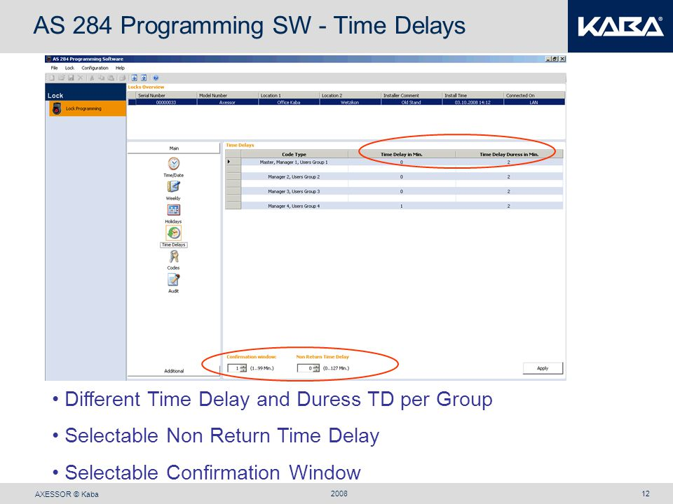 AS 284 Programming SW - Time Delays