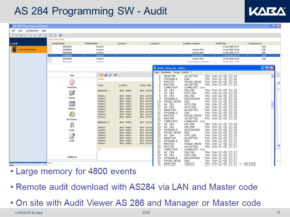 AS 284 Programming SW - Audit