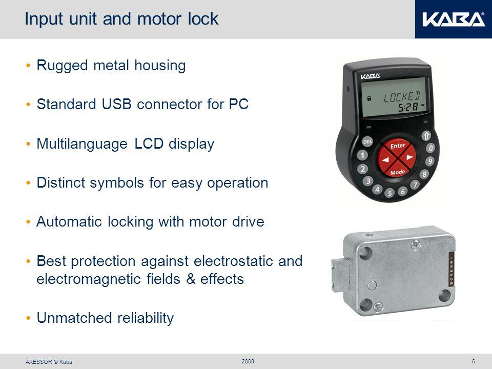 Input unit and motor lock