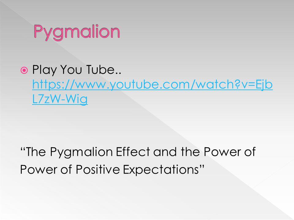 Pygmalion Play You Tube.. https://www.youtube.com/watch v=EjbL7zW-Wig