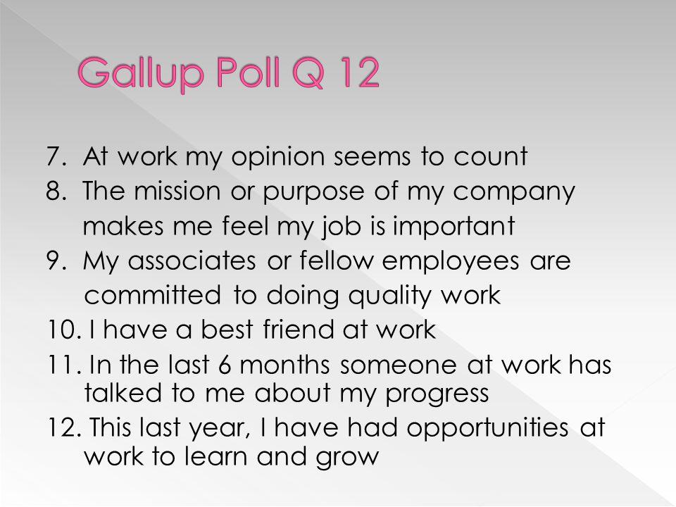 Gallup Poll Q 12