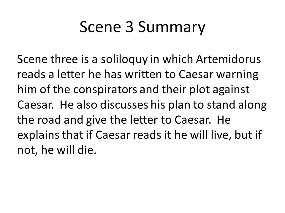Scene 3 Summary