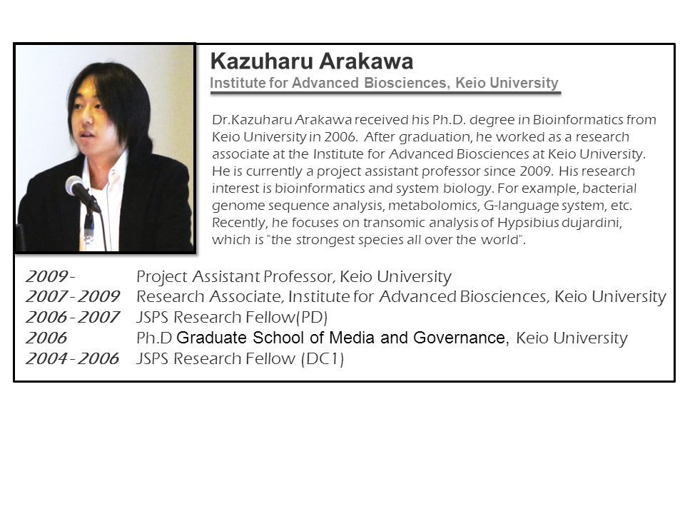 Kazuharu Arakawa Institute for Advanced Biosciences, Keio University