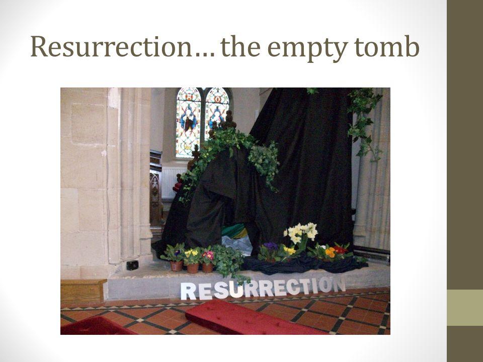 Resurrection… the empty tomb