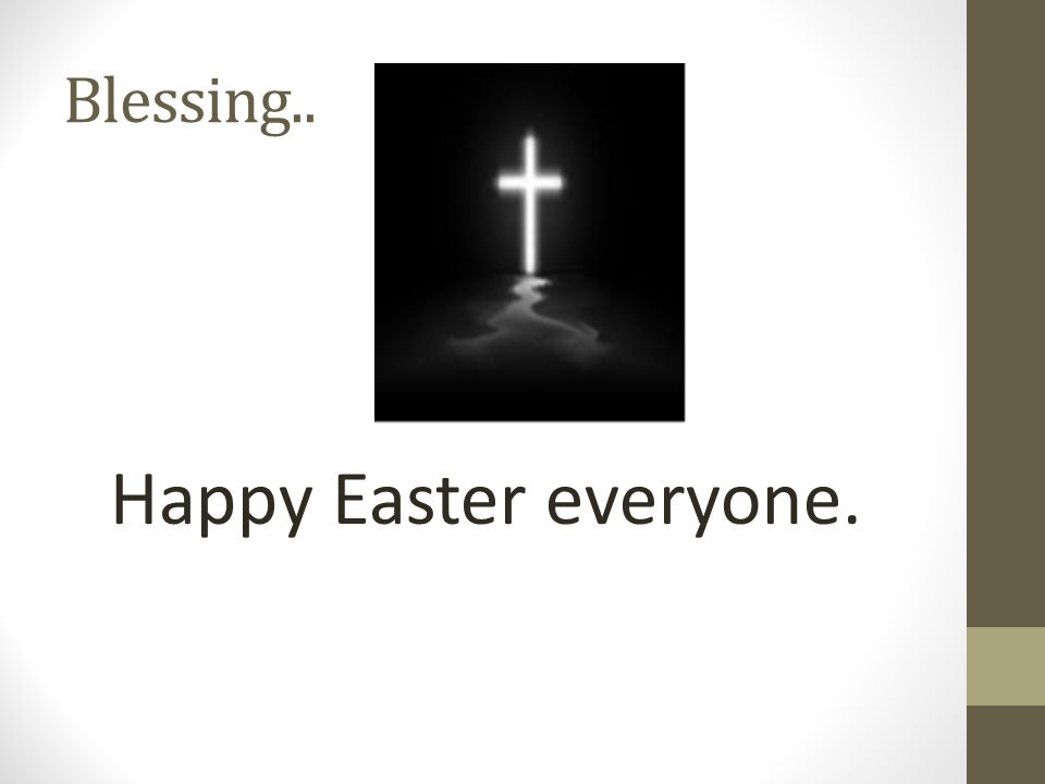 Blessing.. Happy Easter everyone.