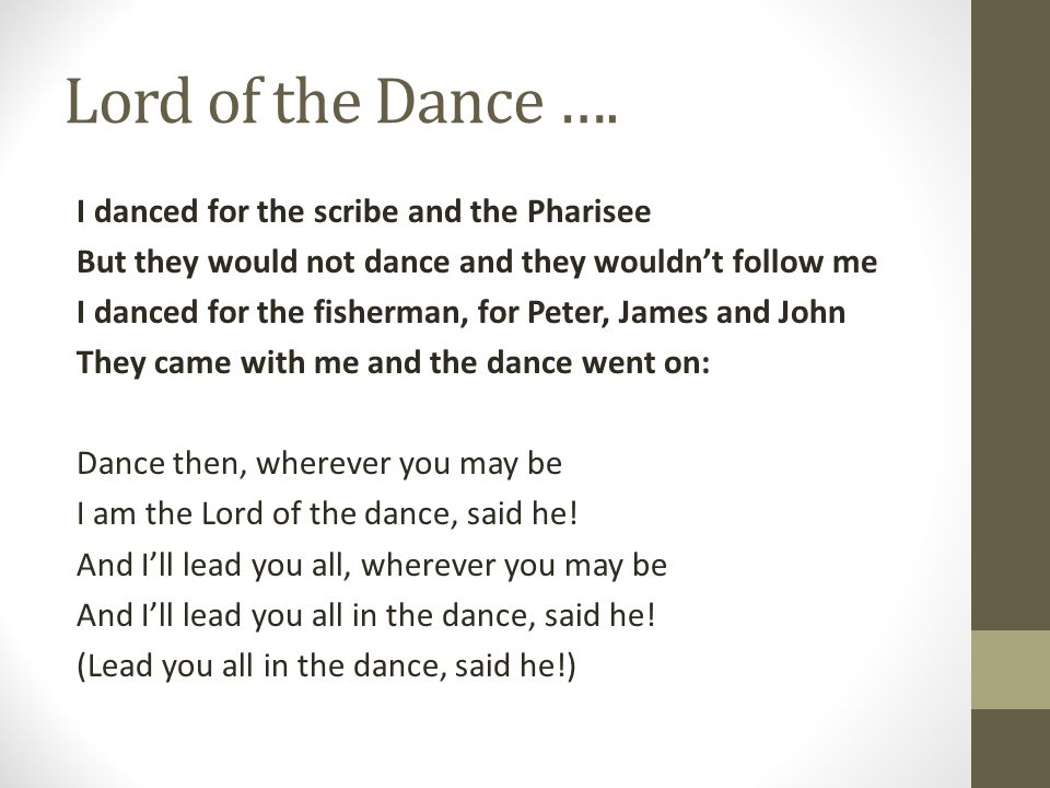 Lord of the Dance ….
