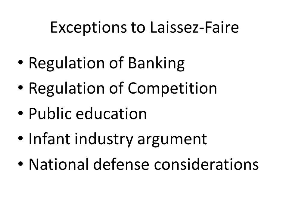 Exceptions to Laissez-Faire