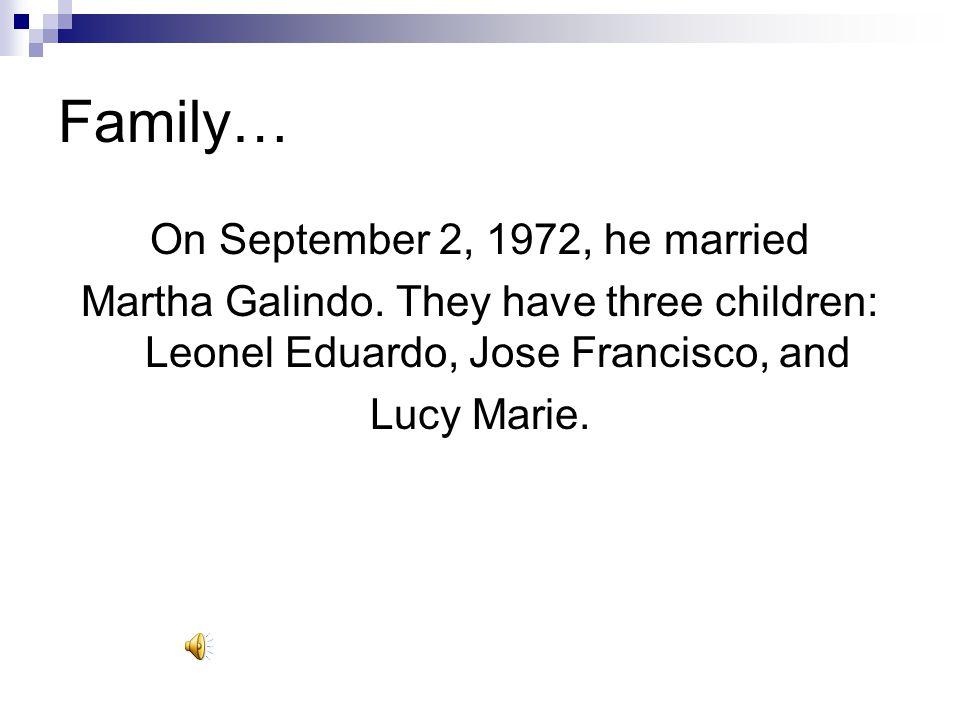 On September 2, 1972, he married