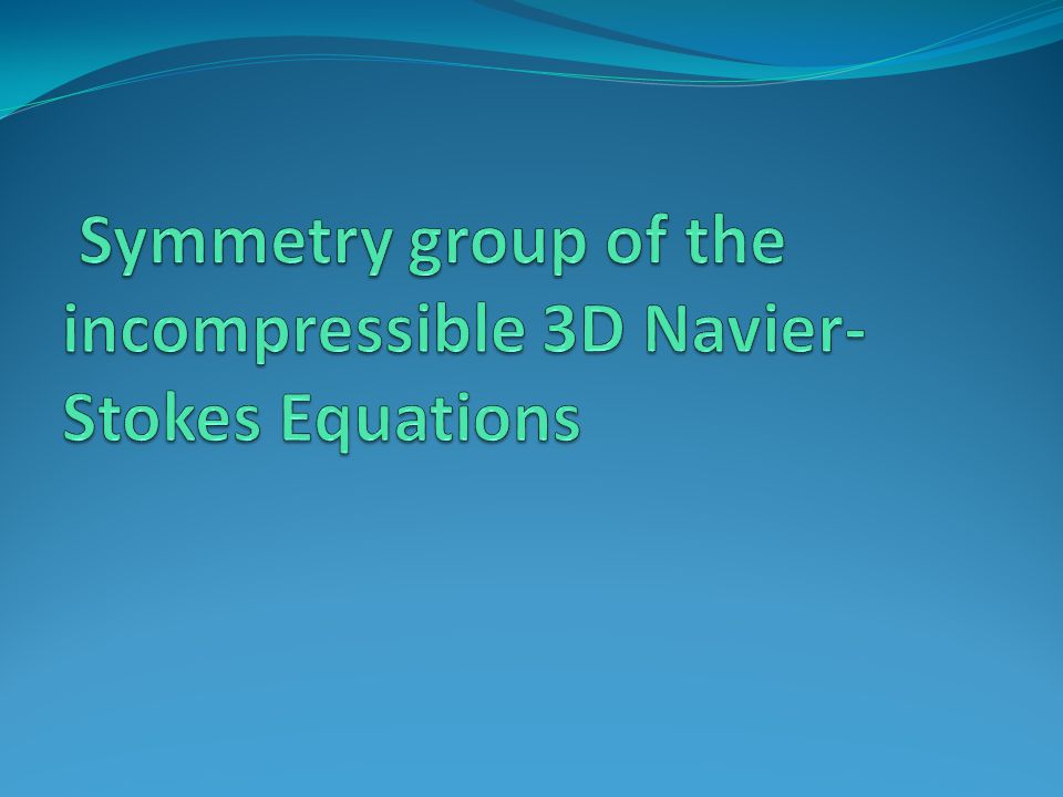Symmetry group of the incompressible 3D Navier-Stokes Equations