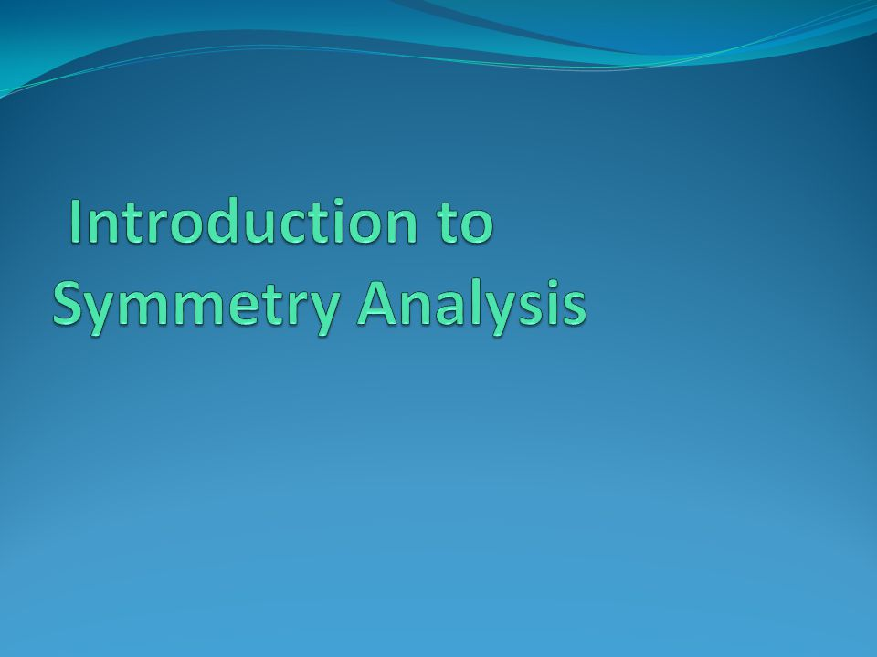 Introduction to Symmetry Analysis