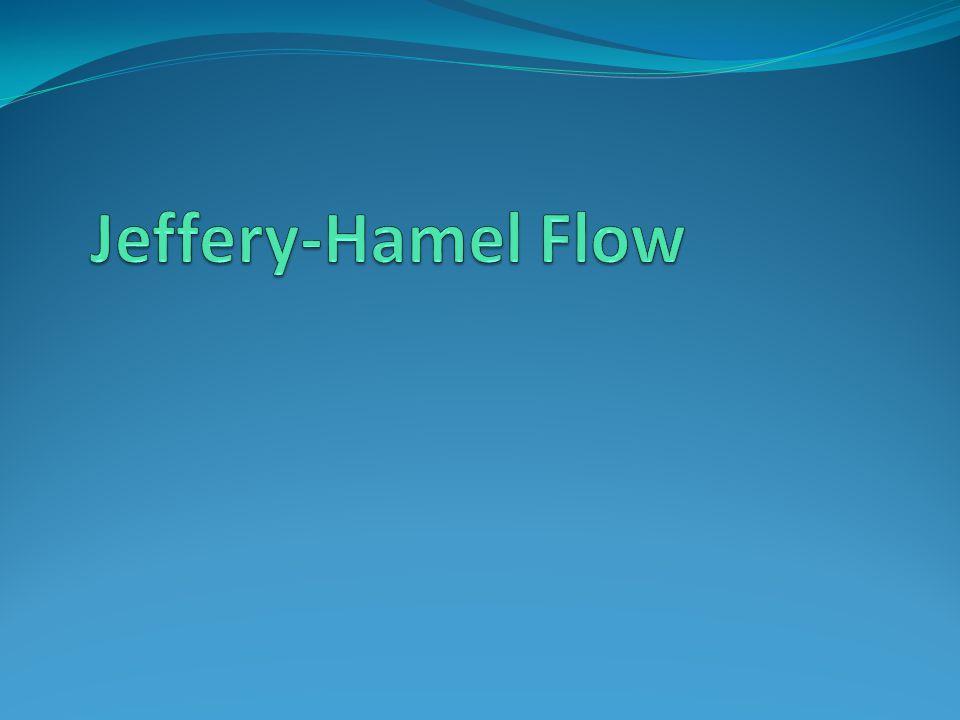 Jeffery-Hamel Flow