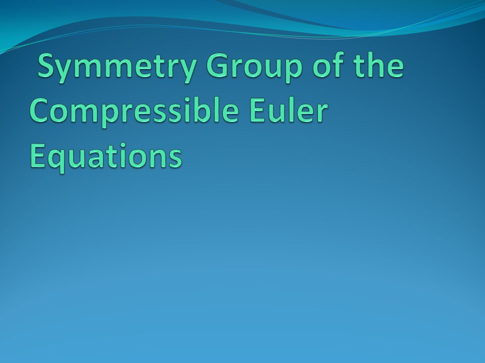 Symmetry Group of the Compressible Euler Equations