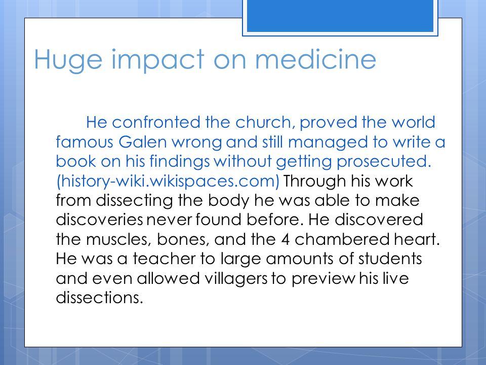 Huge impact on medicine