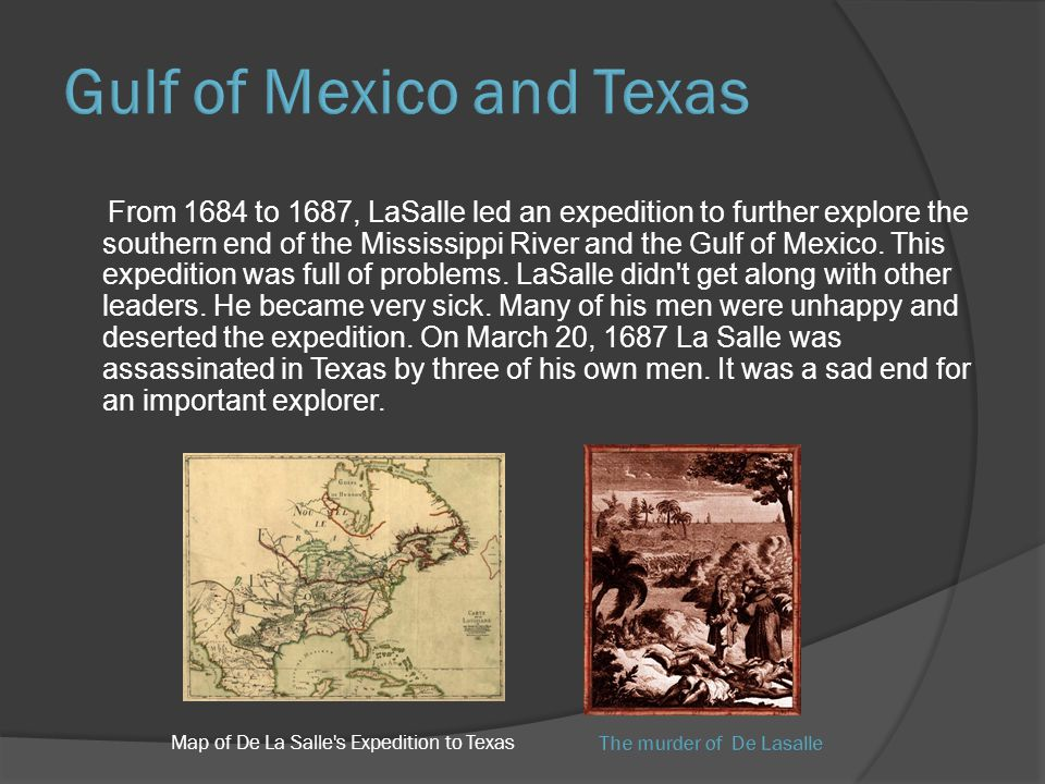 Map of De La Salle s Expedition to Texas