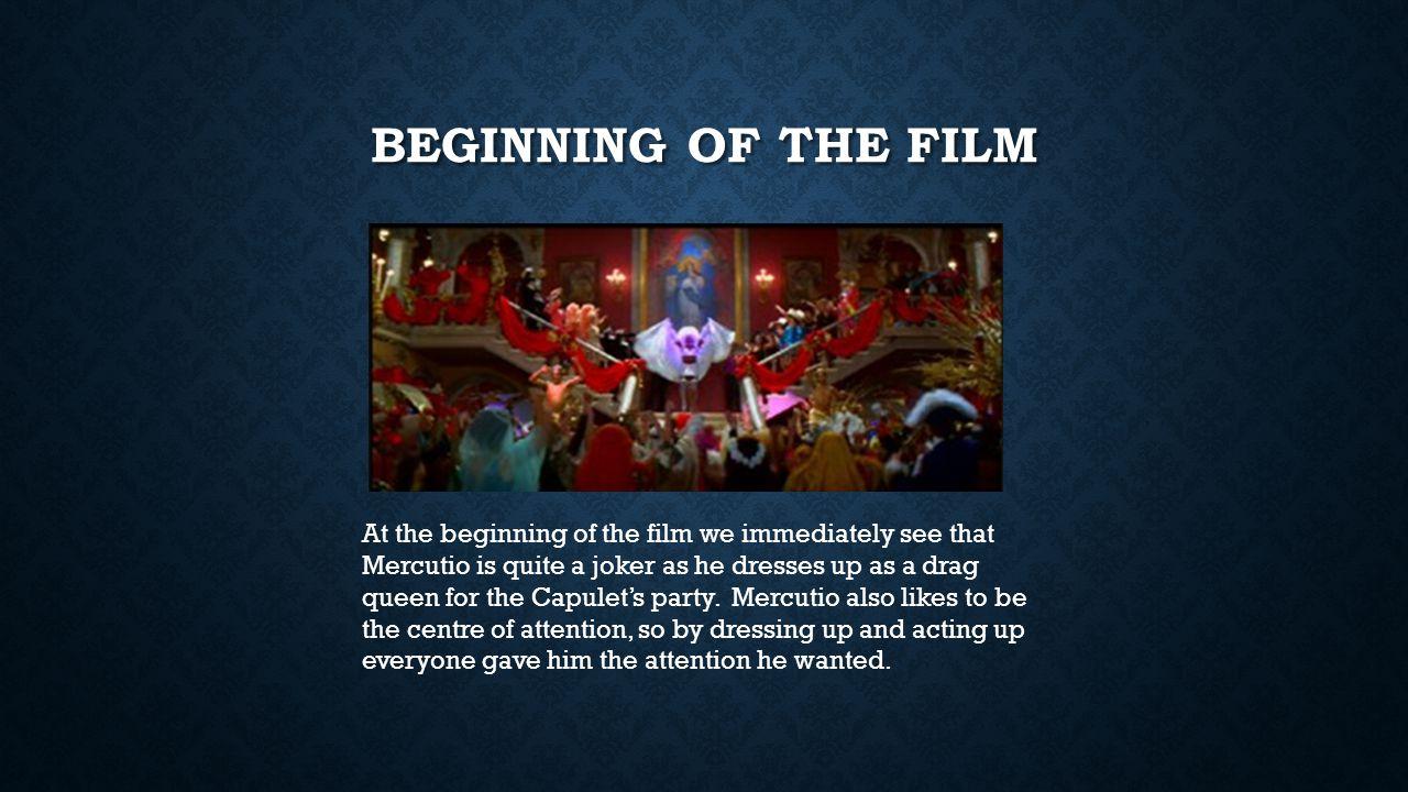 Beginning of the film