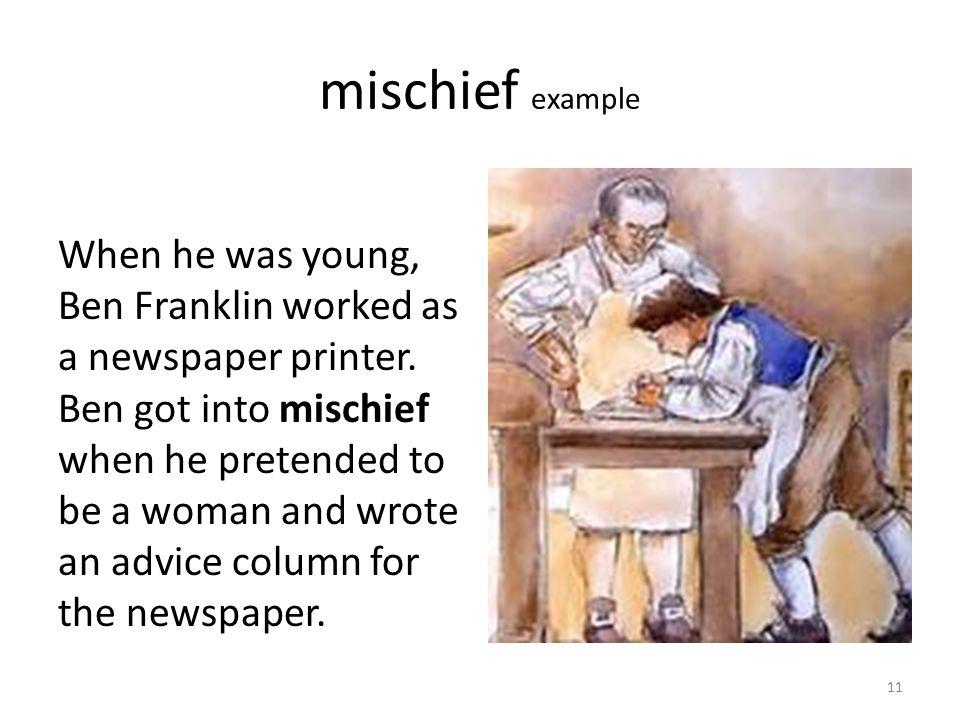 mischief example