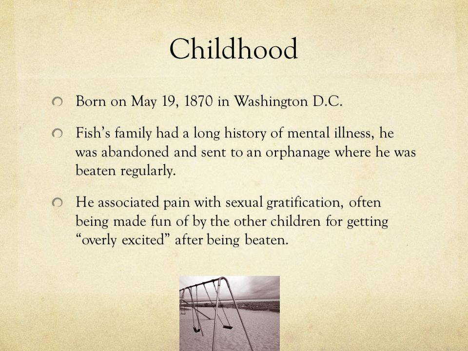 Childhood Born on May 19, 1870 in Washington D.C.